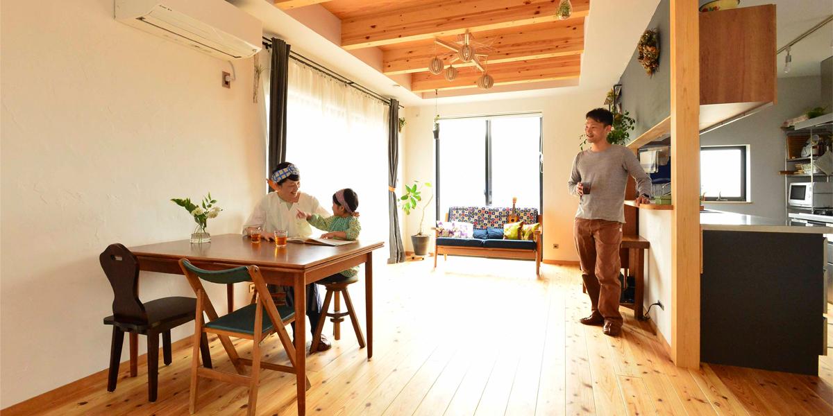 カフェ兼住居の家
