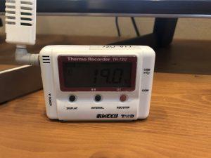 WBHOUSE我が家1Fリビング温度
